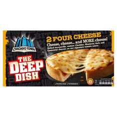 Chicago Town Deep Dish Four Cheese Pizzas 2 x 155g was £2.00 now £1.00 at Morrisons