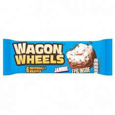 Wagon wheels jammie (6) rrp  £1 just 25p @ Poundstretcher