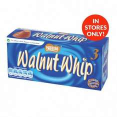 Walnut whip 3 pack just 25p @ poundstretcher
