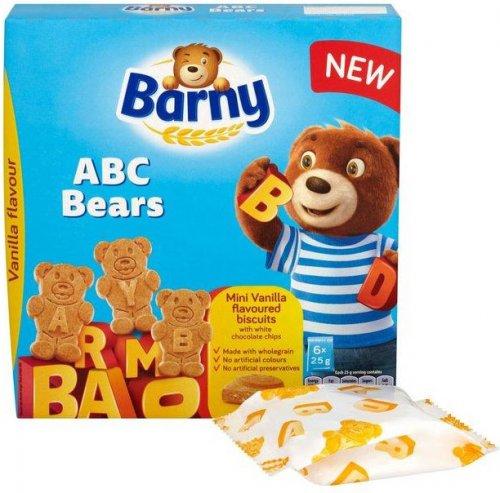 Barny ABC Bears - Vanilla Choc Chips (150g) was £1.69 now £1.00 @ Tesco