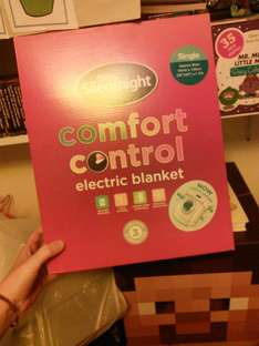 B & m: silent night electric blanket SINGLE 4.99