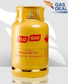 13  KG Butane gas cylinder £19.99 delivered.Gas deals direct.  Possible £5 credit for extra empties