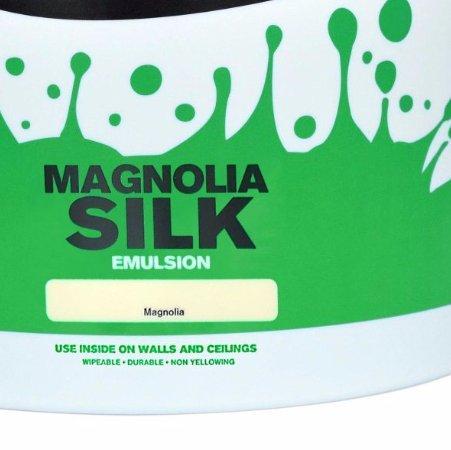 Crown 10L Magnolia and Pure White Matt + Silk Emulsion Paint at B&Q for £10 each