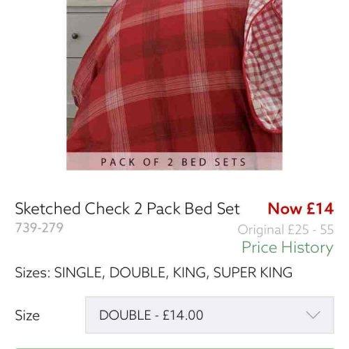 2 Pack bed set next sale £14 - Free c&c