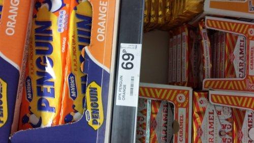Penguin 8 packs orange flavour 69p in farmfoods