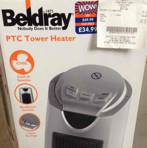 Beldray tower heater £5 @ B&M