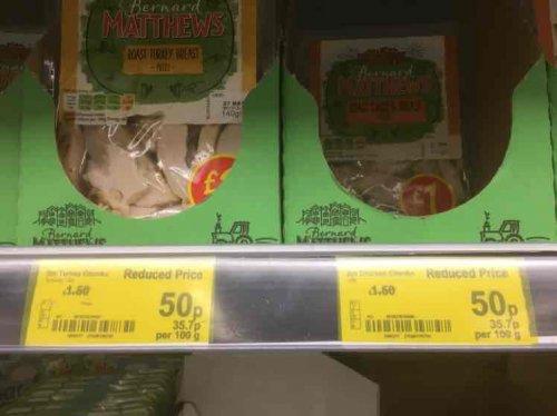 Bernard Matthews Turkey & Chicken Chunks 50p @ ASDA Llanelli