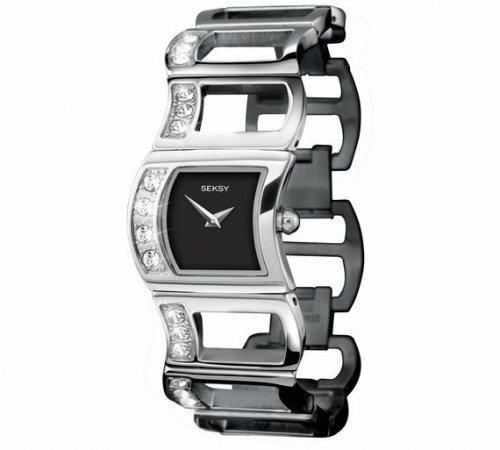 Ladies Seksy Swarovski 4064 black dial watch was £69.99 now £24.99 @ Argos free c&c