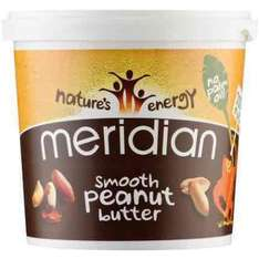 Meridian Smooth Peanut Butter 1kg £4.03 (crunchy £4.75) at Wiggle