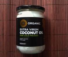 raw orgranic COCONUT OIL extra virgin cold pressed 500ml £4 @ Iceland