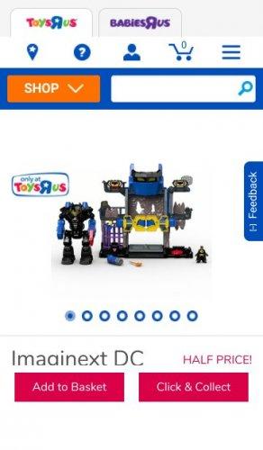 Imaginext Dc Super Friends Robo Batcave Playset £29.99 Toys R Us
