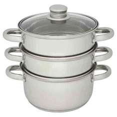 Wilko 3 Tier Steamer Stainless Steel 18cm £8 was £11 FREE Click & Collect