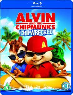 Alvin and the Chipmunks: Chipwrecked Blu-ray - 99p delivered - Zavvi (Also The Squeakquel for 99p)