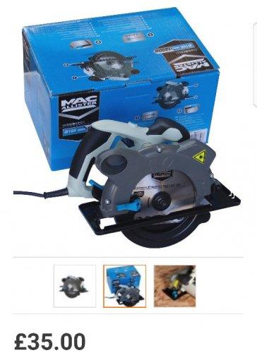 Mac Allister 1200W Circular Saw with Laser guide - £35 @ B&Q