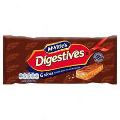 Mcvities chocolate digestive slices, chocolate (raspberry and original) hobnob flapjacks and milk chocolate slices just 67p was £1.45 @ morrisons