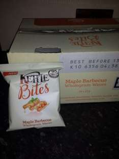 kettle bites maple bbq wholegrain waves, 18 x 22g pack £1.80 instore @ Heron