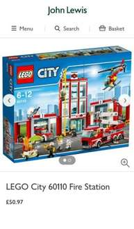 LEGO City 60110 Fire Station £50.97 at John Lewis