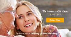 mother's day bouquets from £14.99 + 25% cashback via quidco @ eflorist