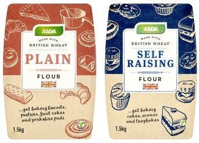 ASDA Plain & Self Raising Flour 1.5kg reduced to 67p @ Asda