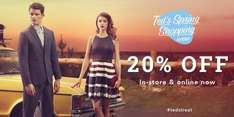 Ted Baker 20% off in store and online + FREE Delivery