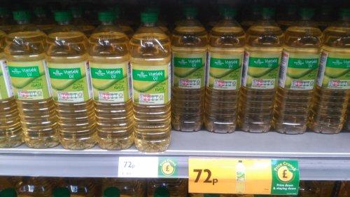 Vegetable oil morrisons 1 litre 72p in-store
