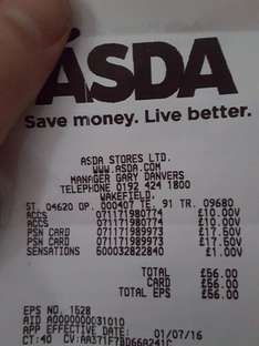 ps+ 12 months £10 & £35 wallet top up £17.50 @ Asda Wakefield