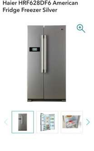 Haier American Fridge Freezer Silver £399.99 - Co-op Electrical
