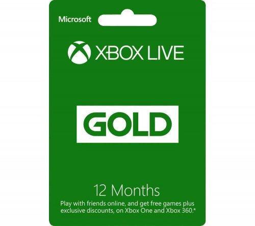X Box Live 12 Months Sub £34.99 @ Currys