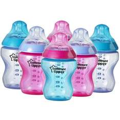 tommee tippee closer to nature Colour My World Feeding Bottles 260ml 6 Pack Pink  (free C&C) £10 - Asda