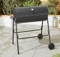 Tesco Barrel Charcoal BBQ with Cover £38 @ Tesco