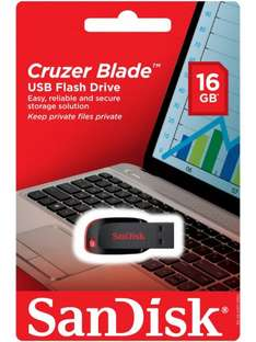 1/2 PRICE on selected Sandisk products including 16Gb Cruzer Blade USB £4.99 at Boots