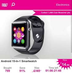 Android 15-in-1 Smartwatch £14.99 @ Wowcher