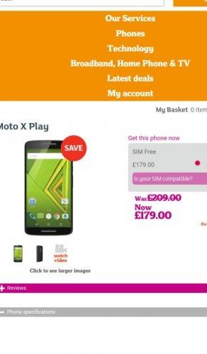 Moto X Play | Phoneshop by Sainsbury's
