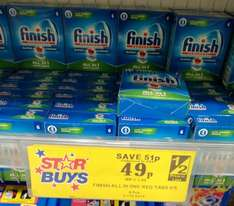 6 tablet pack of Finish dish washer tablets £0.49p