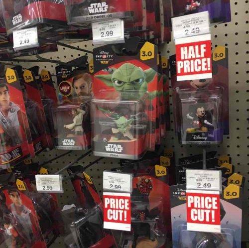 Half price Disney Infinity Figures - (Star Wars, Marvel etc.) £2.49 - £2.99 @ Toys R Us (Govan)