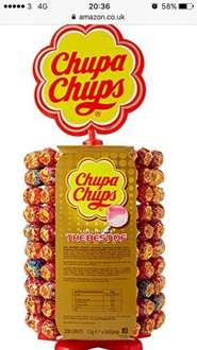 Chuppa chups full size lollies 200 on wheel display £22.99 @ Amazon