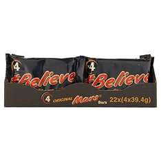 Mars Chocolate Bars, 157.6 g - Pack of 22, Total 88  £16 (Prime) @ Amazon