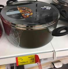 Asda 28cm large non stick teflon stockpot was £14 now £10 instore @ Asda