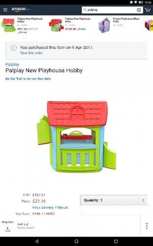 Palplay new playhouse hobby - £21.27 @ Amazon