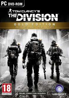 Amazon Lightning Deal - Tom Clancy's The Division - Gold Edition (PC DVD) £14.99 (Prime) £16.98 (Non Prime) @ Amazon
