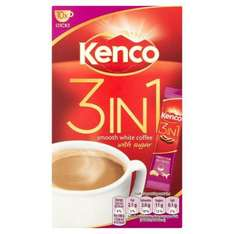 Kenco 3 in 1 coffee sachets Tesco in-store and online - £1