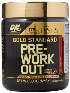 Optimum Nutrition Gold Standard Pre-Workout Supplement, 330 g - Variety of Flavours  £9.97 S&S @ Amazon