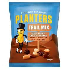 Planters Trail Mix 60g bbe 01/07/17 39p at home bargains