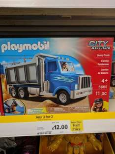 Playmobil City Action Dump Truck was £30 now £12 plus 3for2 instore @ Tesco