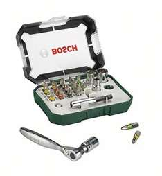 Bosch Screwdriver Bit and Ratchet Set, 26 Pieces £10.29 (Prime), £14.28 (Non-Prime or Free Delivery on orders over £20) @ Amazon