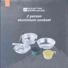 Two Person Cook Set Aluminium Camping/Trekking 50% off Was £13.99 Now £6.99 Free Home delivery using voucher @ Mountain Warehouse