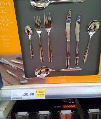 Tesco's cutlery set £30 instore (found Llanelli)