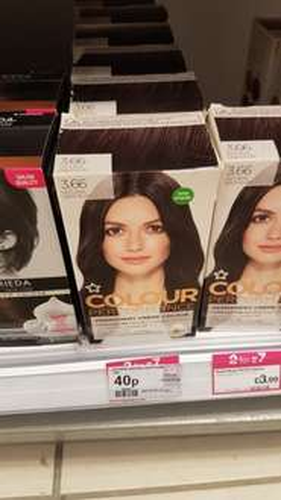 Superdrug Colour Performance Permanent Hair Dye Plum 40p Instore
