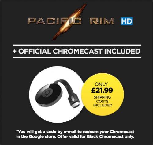 Google Chromecast + Pacific Rim HD £21.99 @ Wuaki