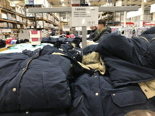 Ralph Lauren Denim and Supply Ladies Navy Down Parka £23.96 @ in store at Costco (Glasgow)